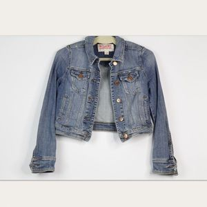 Mossimo Jean Jacket Distressed Size Small